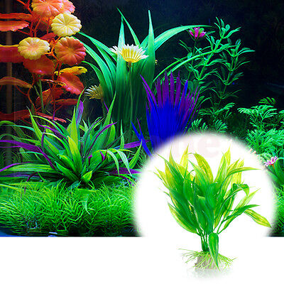 Fish Aquarium Aquarium Décor vert Plante Artificielle Plastique Water Plant 2 • EUR 1,00