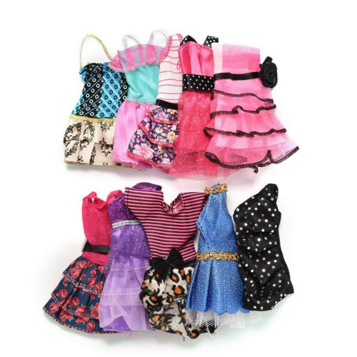 10 Pcs Dresses for Barbie Doll Fashion Party Girl Dresses Clothes Gown Toy Gift. 4