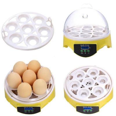 Automatic Mini Incubator 7 Egg Poultry Hatcher Digital Bird Temperature Control 8