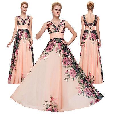 ... GK Abito da party donna lungo Breve damigella cerimonia vestito festa  ballo sera 4 55dd082548b