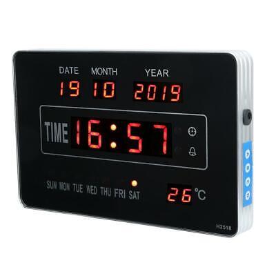 Calendrier électronique multifonctionnel avec horloge numérique et affichage 7