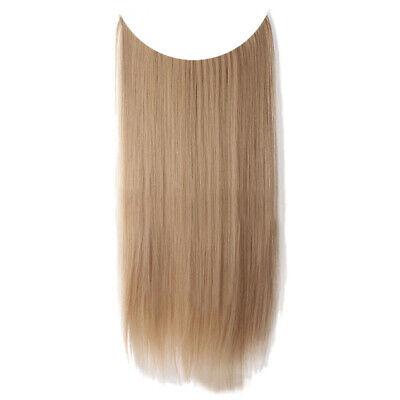 55cm Extension Cheveux lisse Ondulé Fil Invisible Transparent Monobande 2