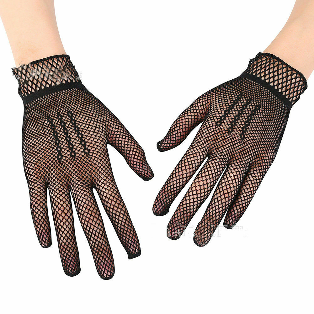 4 Color Hollow bride dance gloves Women's elastic gloves nightclub soft sexy 2