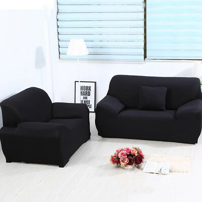 Universal Stretch Chair Sofa Covers 1 2 3 4 Seater Protector Couch Slipcover US 8