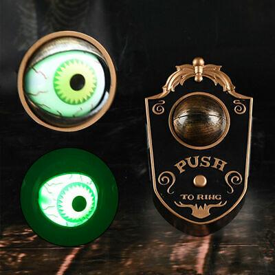 Halloween Animated Doorbell Eyeball Haunted House Prop Decoration Scary Spooky 2