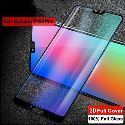 For Huawei P20 Pro Lite Premium Full Cover Tempered Glass Film Screen Protector 2