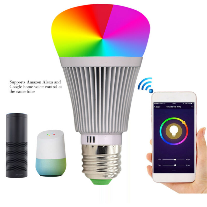 LED-Lampe E27Smart Dimmbare WIFI APP Fernbedienung RGB Home iOS Pro A 6
