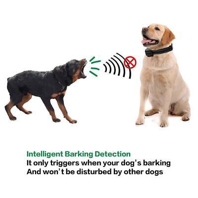 Rechargeble LCD Automatic Anti Bark No Barking Tone Shock Dog Training Collar 10