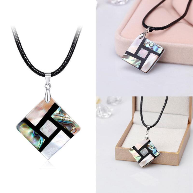 Frauen Mädchen Natürliche Abalone Muschel Perle Anhänger Halskette Geschenk 6