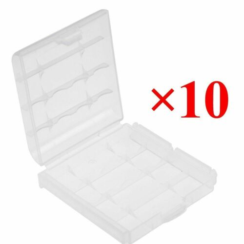 10pcs Hard Plastic Clear Case Cover Holder AA/AAA Battery Storage Box Hot Sale 3