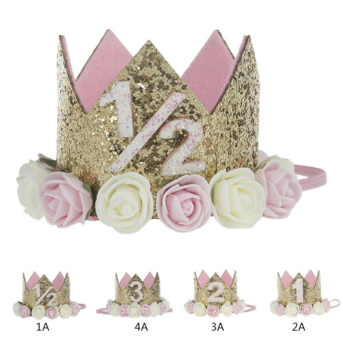 Baby Princess Tiara Crown Boy Girl 1 2 3 Year Old Birthday Hat Sparkle 4 Of 10