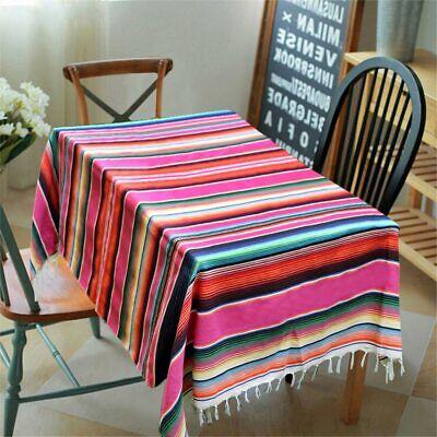 59 x 84 Inch Mexican Blanket Yoga Saltillo Striped Tablecloth Home Party Decor 3