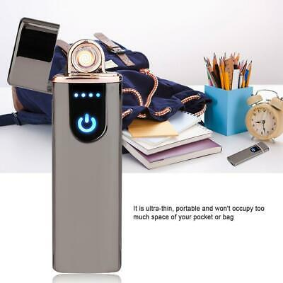 Electric Lighter Usb Rechargable Windproof Flameless Finger Print Gentle Touch 7