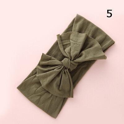 Baby Girls Kids Toddler Bow Hairband Headband Stretch Turban Knot Head Wrap H9 6