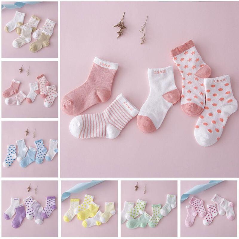 5pairs Newborn Infant Toddler Kids Baby Boy Girl Cotton Cartoon Socks Soft Sock 11
