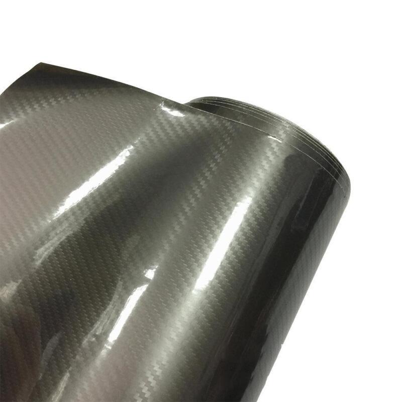 6D Super Gloss Carbon Fiber Vinylfolie Wrap Bubble Freiluftfreigabe 30*152 K1B8