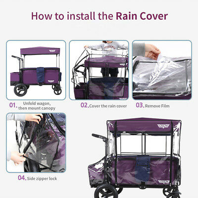 KEENZ 7S Moov Wagon Stroller Weather Shield Waterproof Dust Wind Snow Rain Cover 8