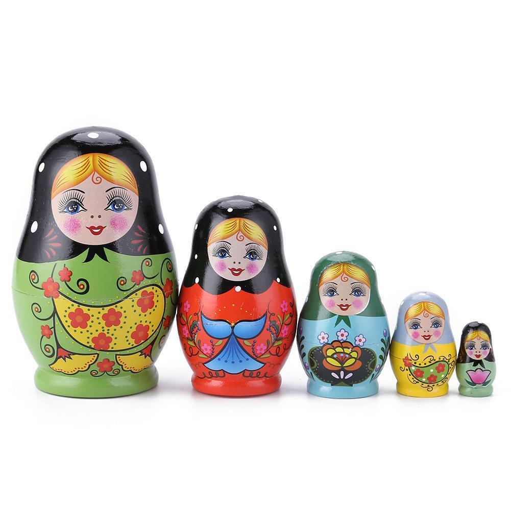 53 styles Cartoon Matryoshka Russian Nesting Wooden Dolls Stacking Babushka Toys 4