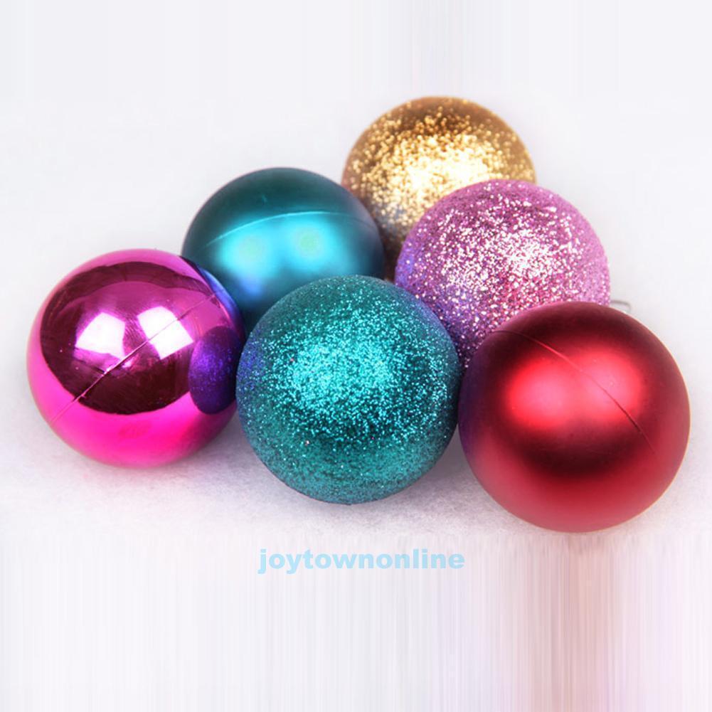 24Pcs/Lot Christmas Balls Ornament Hanging Baubles Xmas Tree Decor ...