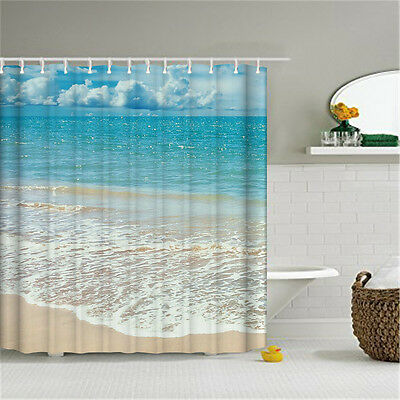 3 Of 11 71Waterproof Fabric Shower Curtain Stylish Design Bathroom Set With Hooks Gift