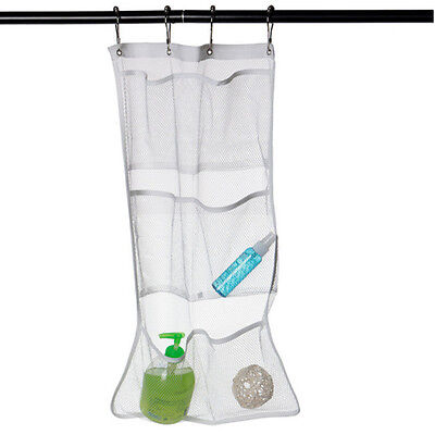 2 Of 10 Hanging Bathroom Organizer Shower Shampoo Bath Caddy Storage Mesh  Bag+4 Hooks