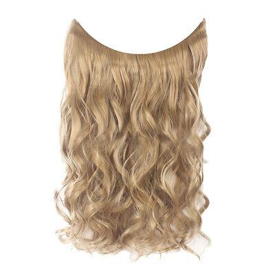 55cm Extension Cheveux lisse Ondulé Fil Invisible Transparent Monobande 9