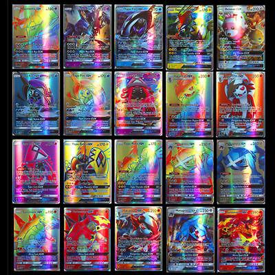 200Pcs Pokemon carte 195 GX + 5 MEGA Toutes Holo Flash Art Trading Cards Cadeau 10