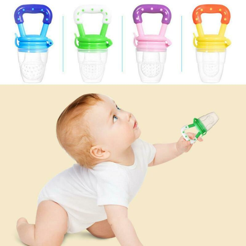 Portable Baby Food Fruit Nipple Feeder Pacifier Safety Soft Silicone Feeding new 2