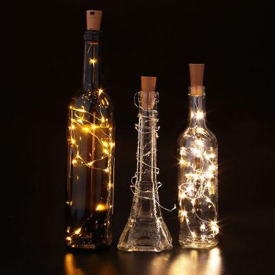 10 20 30 LED Cork Shaped Copper Wire String Light Wine Bottle For Decor RD494 8