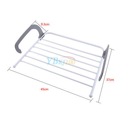 Folding Clothes Towel Rack Drying Laundry Hanger Bathroom Windowsill  Guardrail 2. Folding Clothes Towel Rack Drying Laundry Hanger Bathroom