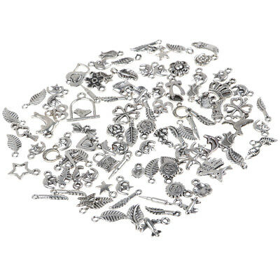 Wholesale Bulk Lots Tibetan Silver Mix Charm Pendants Jewelry DIY Finding 6