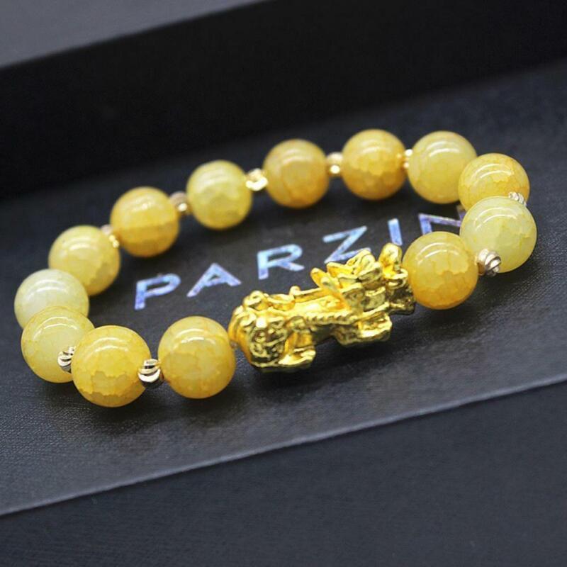 Pixiu Chinese Good Lucky Charm Feng Shui Pi Yao Wealth Bracelets Jade Jewelry 3