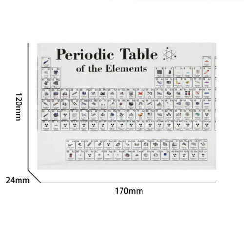 Periodic Table Display with Elements Acrylic Student Teacher Desk Ornament Cool 4