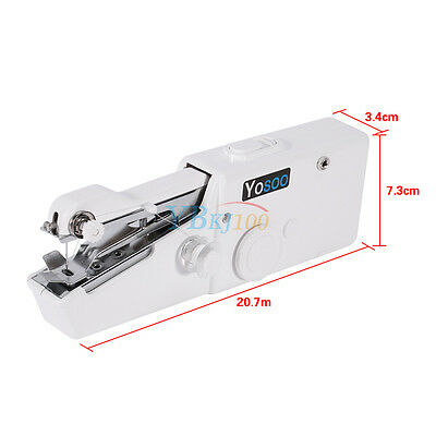 Hand Held Sewing Machine Portable Electric Stitch Mini Cordless Fabric Battery 11