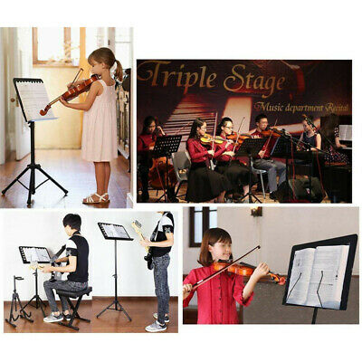 Orchestral Sheet Music Stand Tripod Height Angle Adjustment Portable Folding+Bag 11