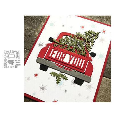 Stanzschablone Auto Junge Weihnachten Geburtstag Hochzeit Karte Album Deko DIY