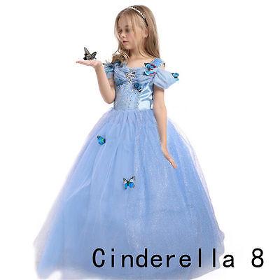 9dfa44a9fef59 LES FILLES VÊTEMENTS Princesse Belle Cendrillon Elsa Sofia Robes Partie  Costume
