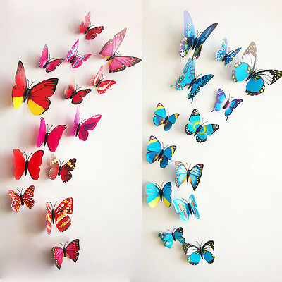 7 Of 12 DIY 3D Butterfly Wall Stickers Art Design Decal Room Decor Home  Decoration,12pcs