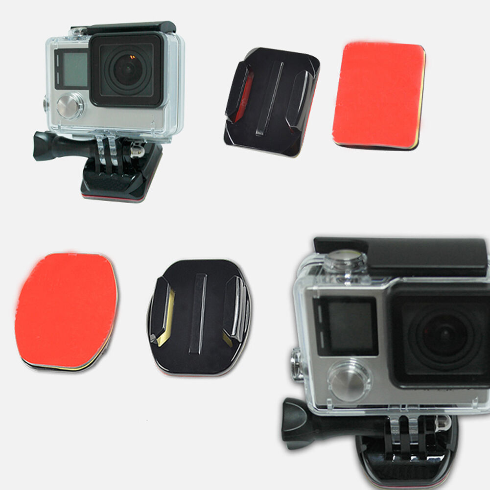 6PC Helmet Pat Flat Curved Adhesive Accessories for Gopro Hero 1 2 3(no mount) 3