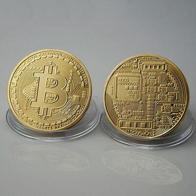 Oro placcato moneta Bitcoin da collezione regalo fisico BTC Coin Art Collection 6
