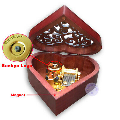 "Twinkle Little Star/"" Alloy Heart Music Box With Sankyo Movement Play /""Twinkle"