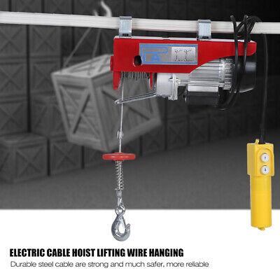 Scaffold Winch Electric Warehouse Garage Overhead Gantry Hoist Lifting Max 600KG 6