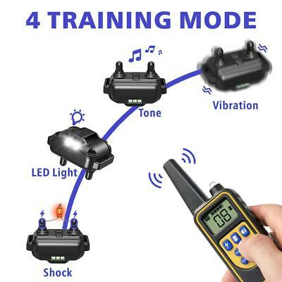 Rechargeable 2600 FT Remote Dog Training Shock Collar Waterproof Hunting Trainer 7