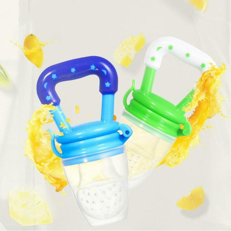 Portable Baby Food Fruit Nipple Feeder Pacifier Safety Soft Silicone Feeding new 7