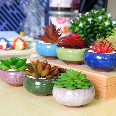 NEWEST Ice-Crack Glaze Flower Ceramics Succulent Plant Mini Pot Garden Flowerpot 2
