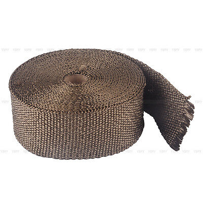 2000F EXHAUST HEAT WRAP TITANIUM Gold 10M X 50MM  + 10 STAINLESS TIES INSULATION 6
