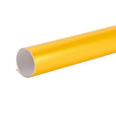 Auroral Metallic Gloss Yellow Vinyl Car Wrap Air Free Bubble Wrap Films Sticker 8