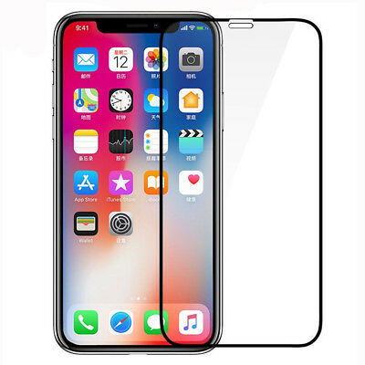 Screen Protector For iPhone X 8 7 6s Plus 6D Curved Full Coverage Tempered Glass