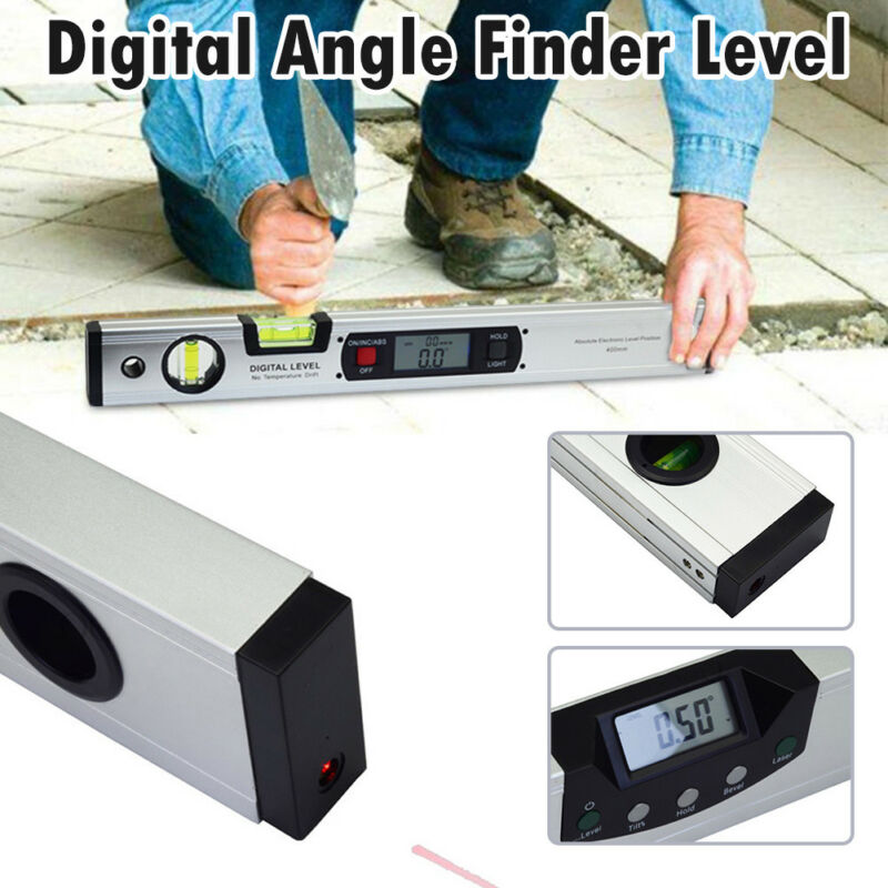 400mm LCD Digital Electronic Angle Finder Meter Protractor Dual Spirit Level 2