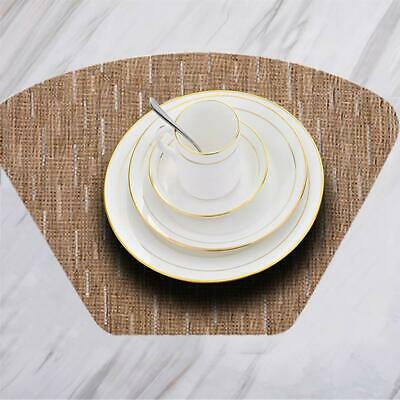 Round Table Placemats.Best Round Table Placemats Set Of 6pcs Wedge Placemats And Centerpiece Woven
